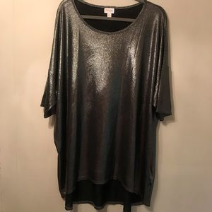 Lularoe Metallic Woven Irma Top 3xl